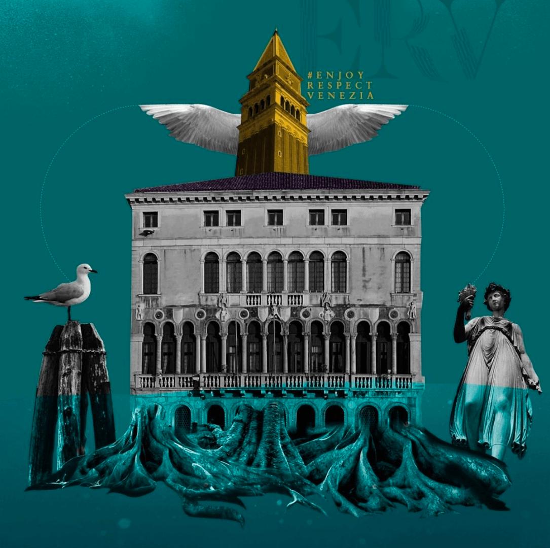 Acqua Alta Venedig Collage Art